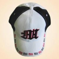 Wholesale 100% Cotton Baseball Cap with Embroidery on Front and Rear from china suppliers
