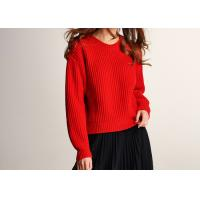 Buy cheap Lady Joyous Chinese Red Crew Neck Winter Jumper from wholesalers