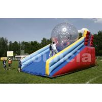 China PVC Zorb Ball Racing Track , Zorb Ramp Used On Grassland Or Snow Field on sale