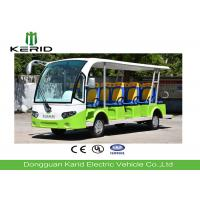 14 Passengers Electric Sightseeing Car , Electric Shuttle Bus With Fiber Glass Body