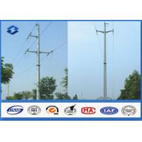 Overhead Transmission Line Electric Power Pole with Material Steel Q345 Q456 , Gr50 Gr65