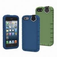 Wholesale PC + Silicons Cases for iPhone 5, Dual-layer Protection from china suppliers