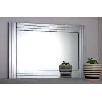 glass polished mirror glass on glass Mirror bathroom mirror Triple Bevelled Wall Mirror for sale