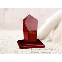 Wholesale Luxury High Gloss Rich Cherry Blank Laser Engravable Wooden Award Trophy Plaque, Small Order, Good Quality from china suppliers