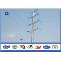 Best Electric Angle Power Steel Pole with 110KV Double Circuits Hot Dip Galvanized wholesale