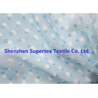 Wholesale Blue Color GGT Jacquard Swiss Dot Polyester Chiffon 2400T 75D from china suppliers