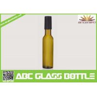 China Factory sale 200ml empty wine glass bottle,custom frosted wine bottle with wooden cap on sale