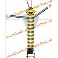 Wholesale Advertising Single Leg Inflatable Air Dancer 6M , Yellow Bee Sky Dancer For Fair from china suppliers