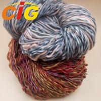China Colorful Acrylic / Cotton / Wool Yarn For Knitting Woman Scarf In Spring / Winter on sale