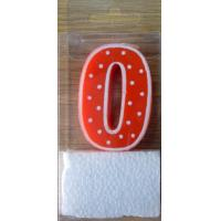 Wholesale White Border and Dots Numeral Candle (SZC2-0036) from china suppliers