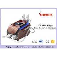 China Portable SHR IPL Hair Removal Machine , Skin Rejuvenation Machine with Double Handle for sale