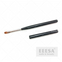 Buy cheap Bright Black Wooden Hadndle Nylon Hair Oval Shape Size 6 Gel Brush With Lid from wholesalers