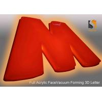 Wholesale 78cm Height Plastic Commercial Building Sign Letter With Vacumed 5cm Flat Shape Face from china suppliers
