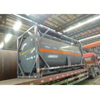 China Steel 20 Foot Tank Container For Sodium HypochloriteAnd Hydrochloric Acid 20000L on sale