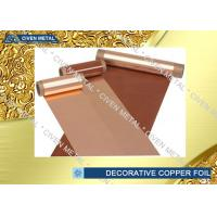 Wholesale Flexible Copper Decorative Copper Foil Radiator Fins C1100 C1220 C1020 from china suppliers
