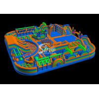 Wholesale 35x35m kids N adults giant inflatable theme park with pop obstacle courses inside from China inflatable factory from china suppliers