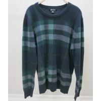 China Deep Blue Mens Wool Sweaters Outwear Acylic Knitwear Pullover Striped Top on sale