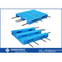Wholesale Reinforced Heavy Duty Plastic Pallets , Blue Plastic Pallets 1.3T Rack Load Capacity from china suppliers