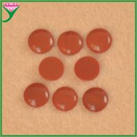 Hot Sale cabochon flat bottom round synthetic red coral decorative glass gems for sale