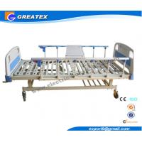 Wholesale 2 Cranks Manual Hospital Bed 2 Functions 2100*900*500 Mm With ABS Dining Board from china suppliers