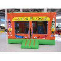 Wholesale Lovely crayon inflatable bouncy combo for sale commercial inflatable crayon jumping house with sport games from china suppliers