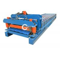 China Q Type Roof Tile Roll Forming Machine Galvanized Steel PPGI Coil Oriental Afica Design for sale