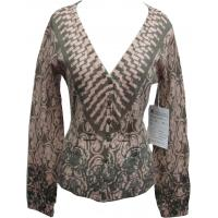 China Print V-neck Lady Sweater on sale