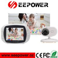 Wholesale 130Mega Pixels ABS Digital Wireless Baby Monitor 300m 3.5 Inch White from china suppliers