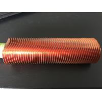 China CuNi 90/10 Shape Type Heat Exchanger Fin Tube OD25.4 X 1.5WT L Finned Copper Tubing on sale