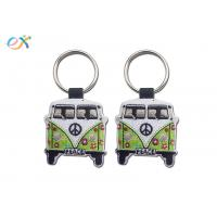 Twill Background Embroidered Keychain Irregular Shape With Laser Cut for sale
