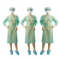 Wholesale Lightweight Non Woven Garments / Hospital Patient Gown Kintted Cuffs from china suppliers