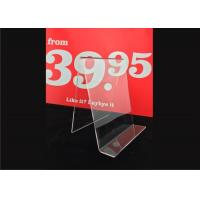 Wholesale Custom Clear Acrylic Sign Holder , Acrylic Menu Poster Holders For Display from china suppliers