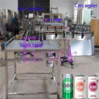 Wholesale Soft Drink Aluminum Can Filler Machine , Commercial Can Sealing Equipment from china suppliers