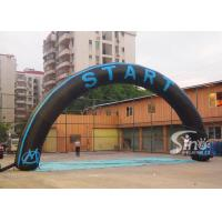 Wholesale Custom Black and Blue Inflatable Start and Finish Line Arch for Outdoor Activities from china suppliers