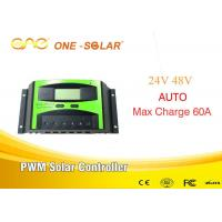 High Efficiency Pwm Solar Panel Controllers 12v Auto With LCD Screen 60A for sale