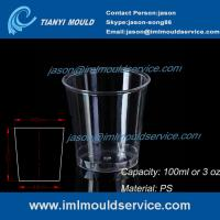 Wholesale clear 100ml thin wall PS plastic disposable drinking cups mould manufacturers and supplier from china suppliers