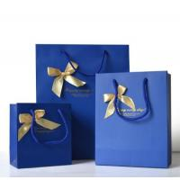 Custom Luxury Bouquet Clothing Shopping Retail Black Paper Bags With Logo Print for sale