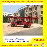 China Popular Good Quality Wheeled  Mounted Mobile  CST-200 Hydraulic Water Well Drilling Rig For 200 m Depth for sale