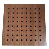 China Halls Decorative Wood Perforated Acoustic Wall Panels Sound Absorption on sale