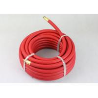 ID 3/8 inch x 25 ft Red flexible air hose with Brass 1/4 inch NPT fittings