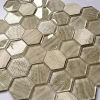 Glass Mosaic Wall Tiles Interior Decoration Bathroom Hexagon And Square Tile for sale