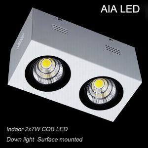 IP42 aluminium double COB 14W led down light&LED Grille light for dining room