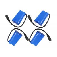 Wholesale 3.7V 5200mah Rechargeable Battery Pack 18650 1S2P With Blue Heat Shrink Tube from china suppliers