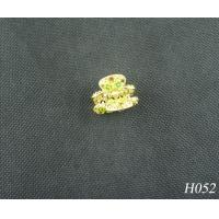 China Jeweled Hair Accessories Fashion Plated Gold Flower Hairpin Jewellery for Party on sale