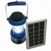 Wholesale Solar Camping Light with 2.5W Solar Panel and 6V, 4Ah Rechargeable Battery Capacity from china suppliers