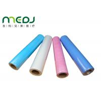 Quality Paper And PE Medical Disposable Bed Sheets 49cmX50m Fabric Roll for sale