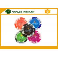 Wholesale Wheat Crown 13.5 G Casino Monte Carlo Clay Poker Chips With Two Side Stickers from china suppliers