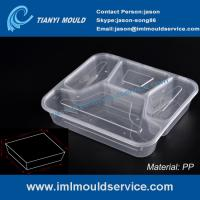 Wholesale disposable 4 compartment plastic thin wall lunch PP container and box mould from china suppliers