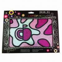 Wholesale 2012 new style rhinestone laptop sticker, customized designs and sizes are accepted from china suppliers