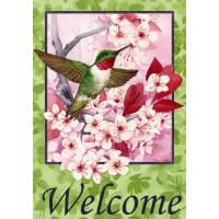 China Garden flags and yard custom flags banners 30 x 45cm humming bird design on sale